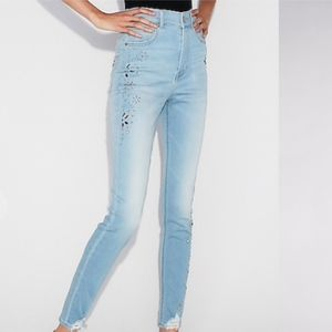 NWT Express High Waisted StretchRipped Ankle Jeans